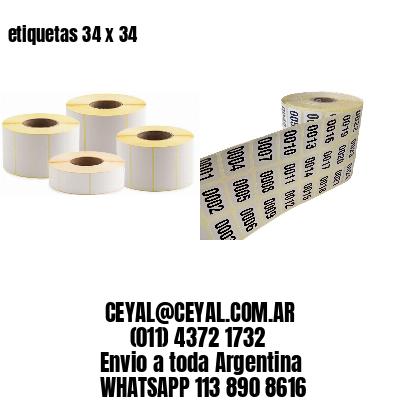 etiquetas 34 x 34