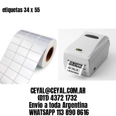 etiquetas 34 x 55
