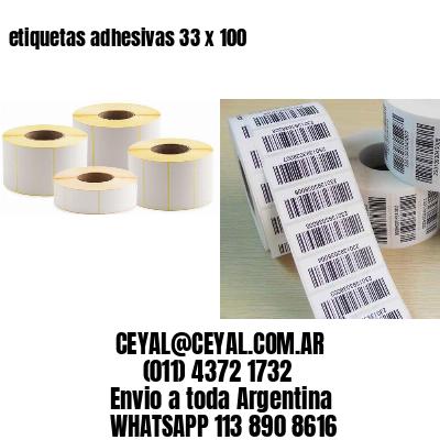 etiquetas adhesivas 33 x 100