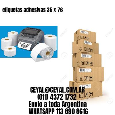 etiquetas adhesivas 35 x 76