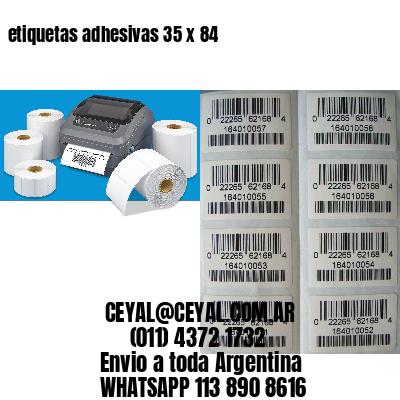 etiquetas adhesivas 35 x 84