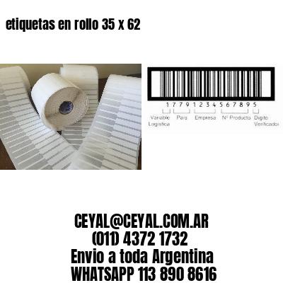 etiquetas en rollo 35 x 62