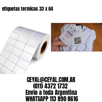 etiquetas termicas 33 x 64